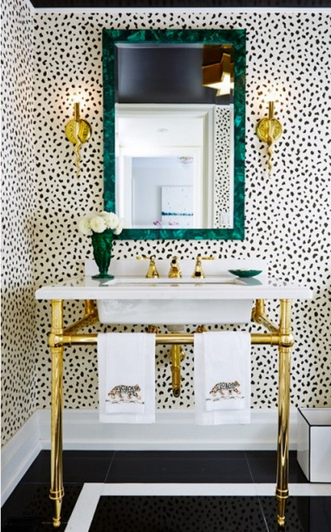 Some Designers Favor Bathroom Wallpaper For Its To Add Color Pattern And A Specific Style Bath