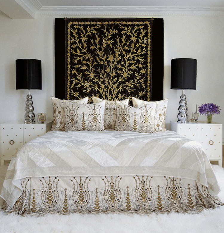 bedrooms - Tamara Mellon's ottoman inspired bedroom by Martin Lawrence Bullard - Elle Décor via Atticmag