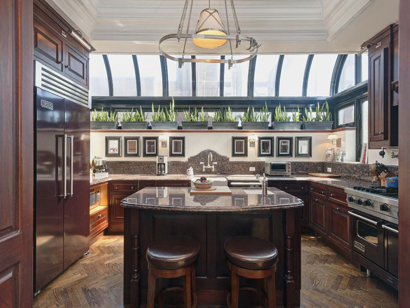 greenhouse kitchen - before old fashioned brown kitchen in Nate Berkus  and Jeremiah Brent's