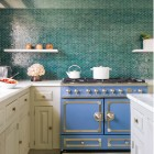 Vibrant Blue Kitchens