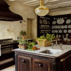 Cast Iron Stove Island Kitchen