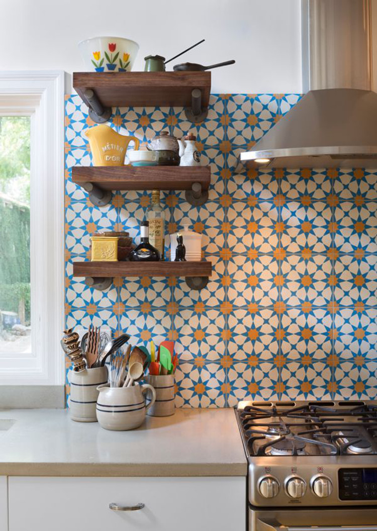 Nothing Creates A More Lively Kitchen Backsplash Than Geometric Tile