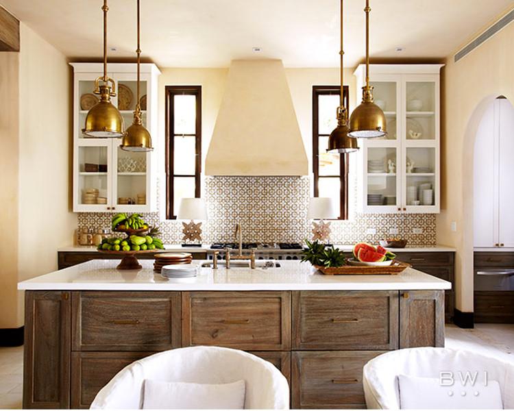 Ann Sacks Nottingham honeycomb tile backsplash in a neutral kitchen by Beth  Webb - via Atticmag - Honeycomb Tile Kitchen - Atticmag