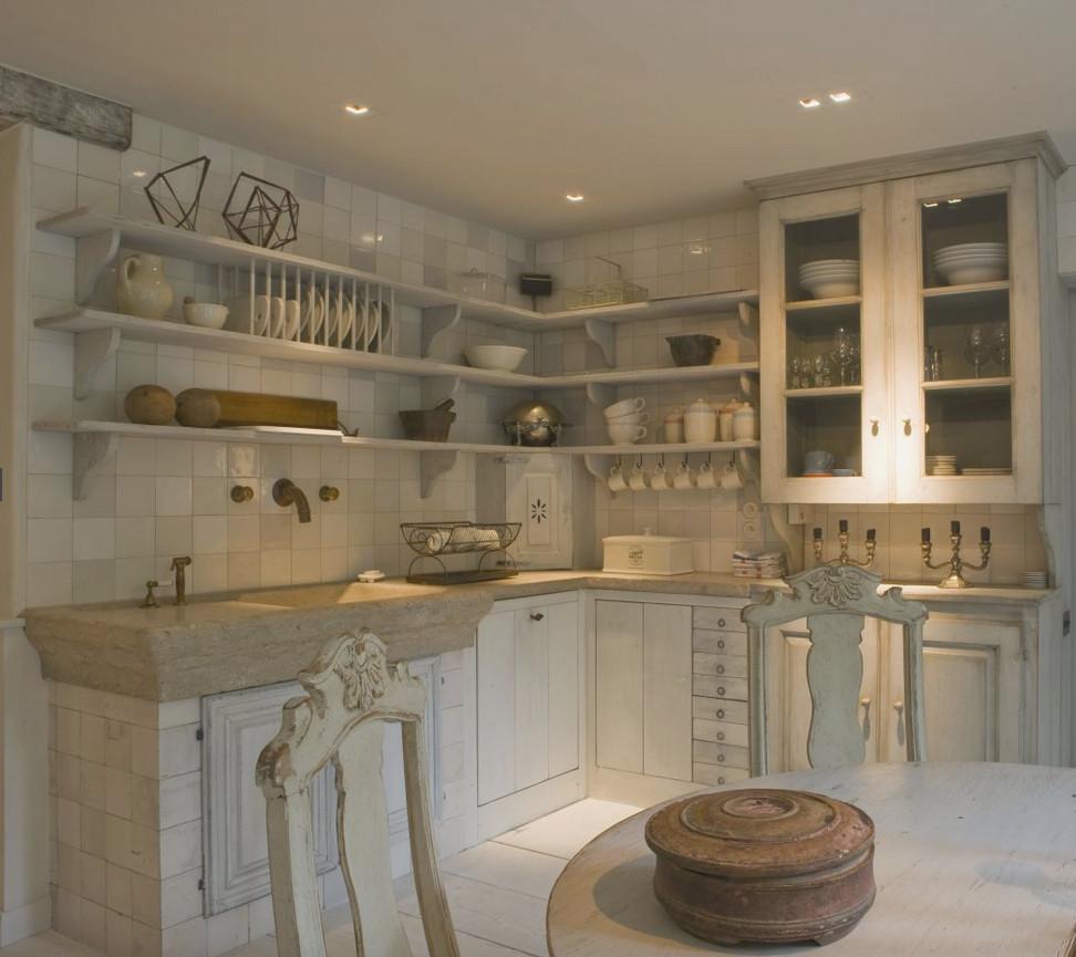 Three Belgian Kitchens Atticmag . Mismatched Kitchen Cabinets ...