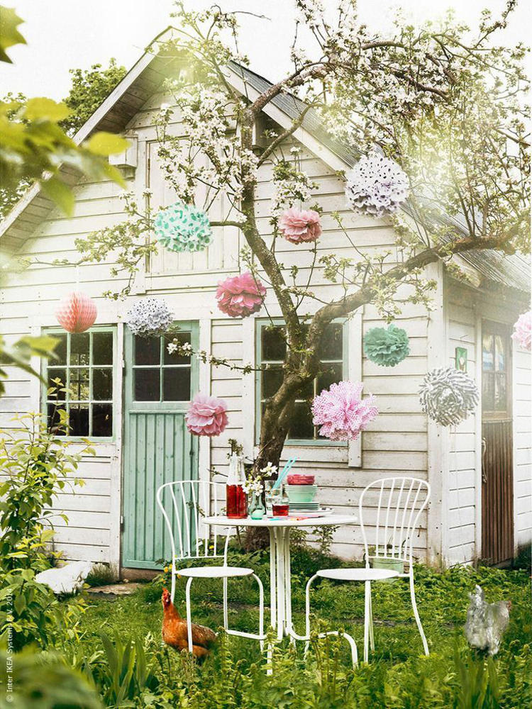 backyard shed - Scandinavian barn style shed with hayloft - IKEA via Atticmag