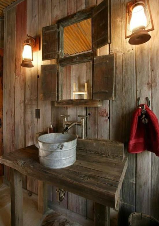Bathroom Sinks Rustic steel bucket bathroom sinks - atticmag