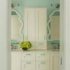 Whimsical Green Bathrooms