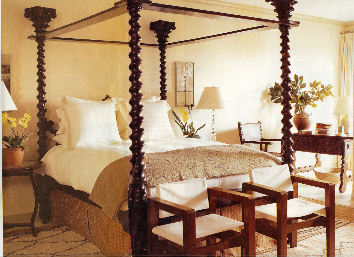 hollywood style - antique anglo indian bed in an LA house decorated by Michael S. Smith - H&G via Atticmag