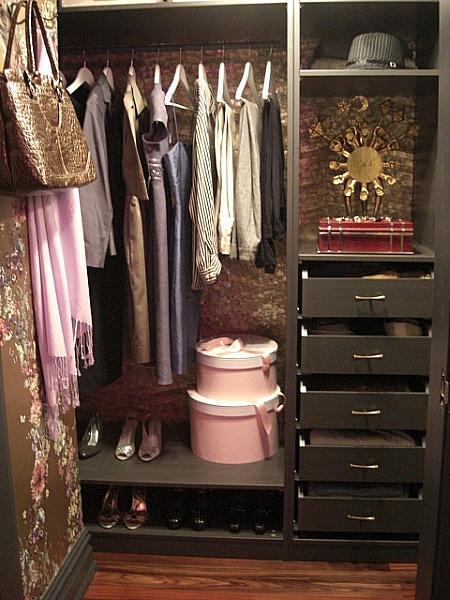 inspired design showhouse - diva dressing closet with built in storage by Bradley Stephens - Atticmag