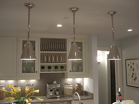 inspired designs showhouse - kitchen with Circa Lighting pendants by Patricia Fisher - Atticmag