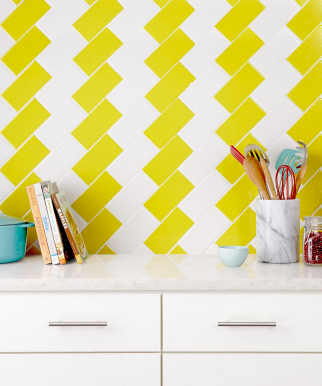 Kitchen Backsplash Diagonal Pattern four kitchen tile backsplash ideas - atticmag