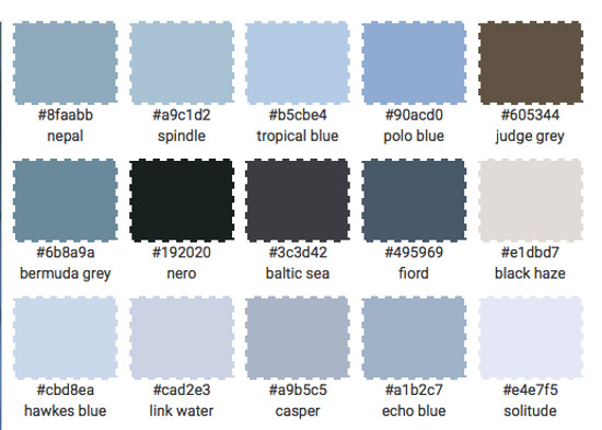 nordic color kitchens - 18th century blue kitchen color palette - Atticmag