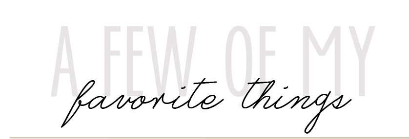 A Few of My Favorite Things blog logo via Atticmag