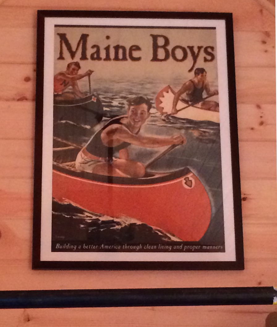 bunkhouse shed - vintage Maine Boys poster from Ebay - Atticmag