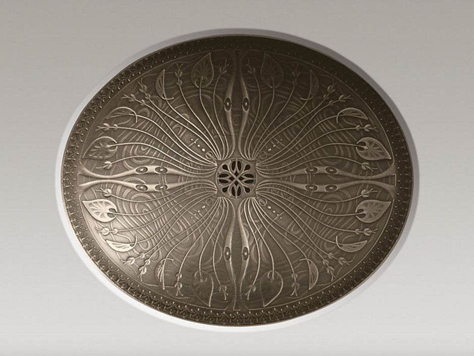 exotic bathroom sinks - Kohler Lilies Lore medium patina bronze sink - Kohler via Atticmag