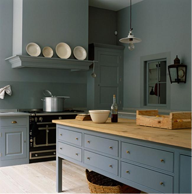 dark gray kitchens medium dark blue gray spitalfields kitchen plain english via atticmag - Gray Kitchen 2016