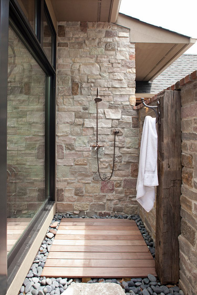 Rustic Showers rustic outdoor shower - atticmag