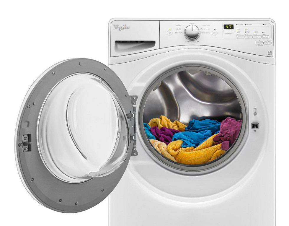 front load washing machine - Whirlpool front loader - sears.com via Atticmag
