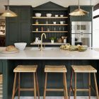 Dark Green Kitchens