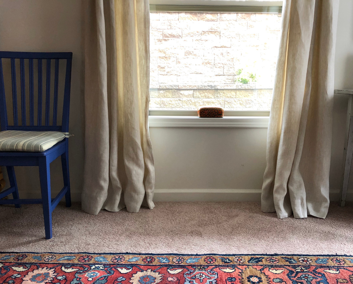 ready made curtain hack for store bought linen panels - Atticmag