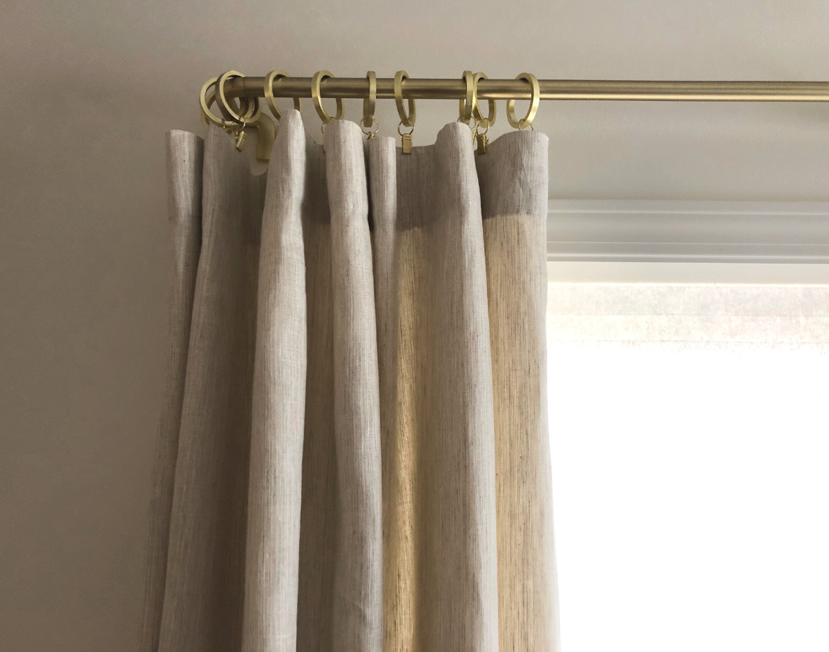 ready made curtain hack for store bought linen panels - aticmag