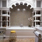 Moorish tub tiled alcove by Alberto Pinto via Atticmag