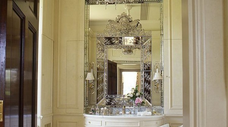 chateau bathroom - white formal bath in a French chateau - Alberto Pinto via Atticmag