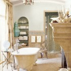 manor house bathroom - traditional Roman style bath with freestanding tub by Barry Dixon - Veranda via Atticmag