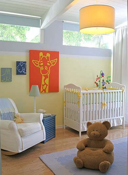 rooms for kids - gender neutral Infant's room by Molly Luetkemeyer via Atticmag
