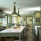 khaki kitchen - khaki-hued luxury beach house kitchen by Michael S. Smith - AD via Atticmg