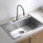 drop in sinks - minimalist stainless Kohler Vault drop in sink - Kohler via Atticmag