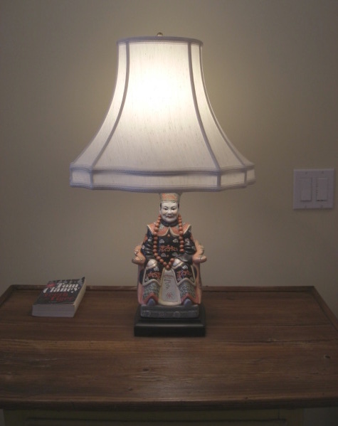 light bulb color - bedroom table lamp with cool color bulb - Atticmag