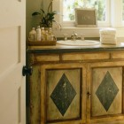 antique chest vanity - painted antique chest converted to bathroom sink vanity - Coastal Living via Atticmag