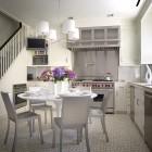 brushed steel white kitchen - modern New York kitchen by Eve Robinson via Atticmag