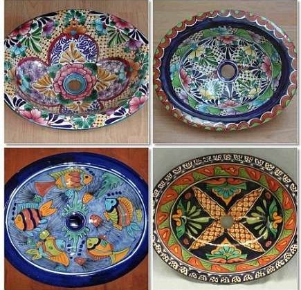 handpainted mexican talavera sinks - via Atticmag