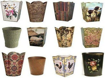 bathroom wastebasket. Decorative Wastebaskets  Iron Blog