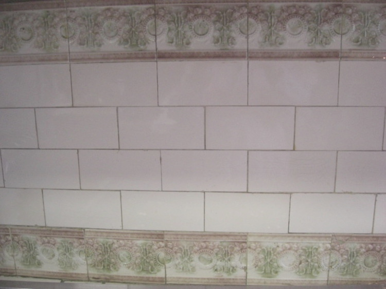 1920s Style Antique Subway Tile In My Kitchen Before The Renovation Atticmag