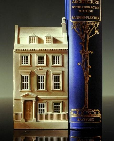 bookends - decorative English manor house bookends by Timothy Richards via Atticmag
