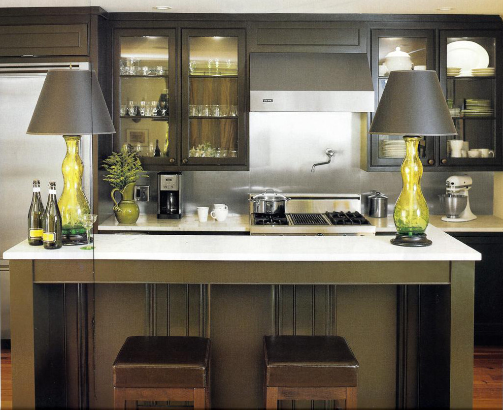 In A Modern Green Kitchen The Hue Is An Earthy Mix Of Green, Brown And Grey.