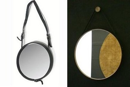 loft entry - a pair of entry hall mirrors including a Jacques Adnet antique mirror - via Atticmag