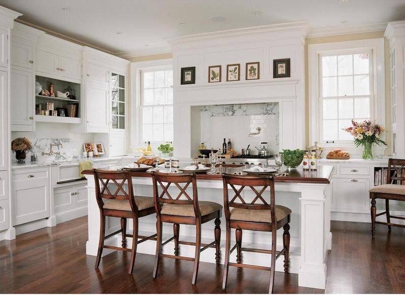 all white kitchen - white Christopher Peacock kitchen that set the trend - via Atticmag