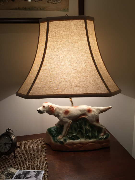 stone cottage details - 50s TV dog lamp turned into a side table lamp - Atticmag
