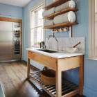 unfitted english kitchen - Smallbone of Devizes Brasserie kitchen - via Atticmag