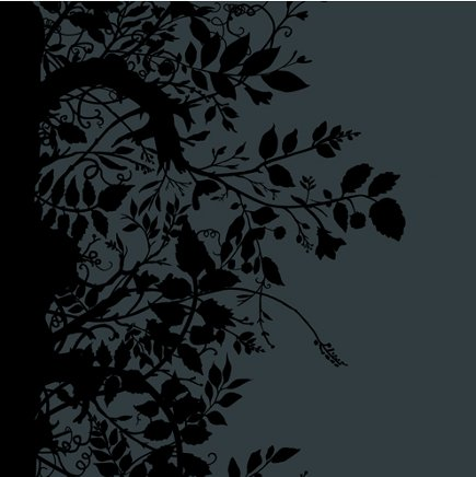 black wall treatment - black and gray Timorous Beasties Branch Out wallpaper - via Atticmag