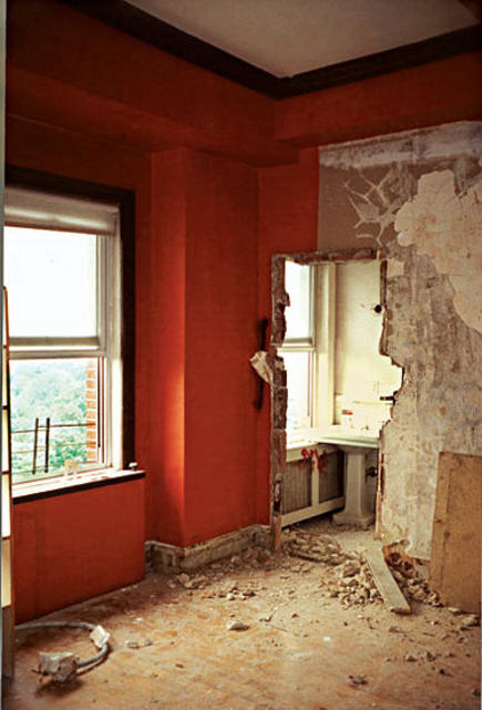 extreme decorating - before photo of Howard Slatkin's dining room - NY Mag