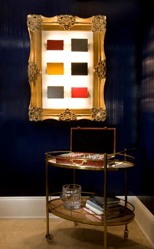 bradley stephens game room Hamptons Designer Show House with 3 dimensional art piece - via Atticmag