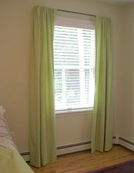 curtain secrets - one [air of newly hemmed customized curtains installed - Atticmag