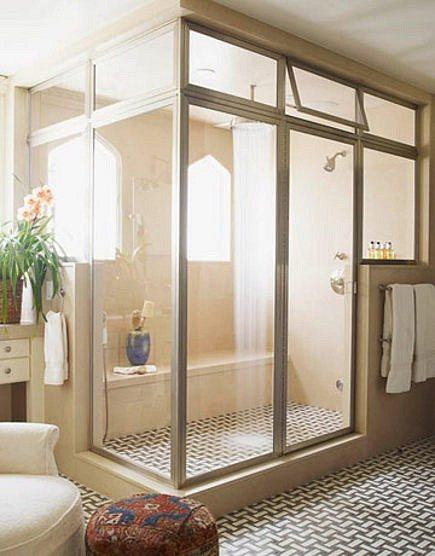 luxurious master maths - steam shower master bath retreat by Peter Dunham via Atticmag