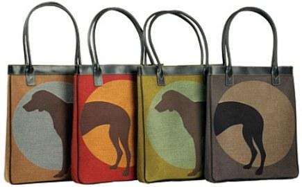 super fabrics - stain resistant Crypton dog print tote - Hilton to Home via Atticmag