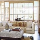 interior window walls - with french doors - Madeline Stuart via Atticmag
